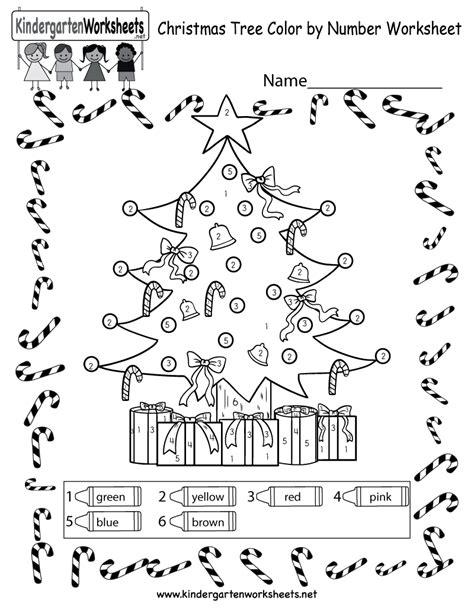 christmas tree coloring worksheet  color  number