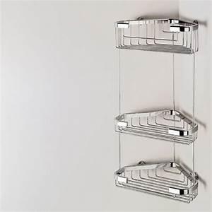 Support Savon Douche : porte savon d 39 angle triple baskets ~ Premium-room.com Idées de Décoration