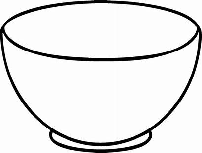 Bowl Cereal Clipart Outline Empty Drawing Cliparts