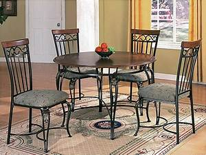wood top metal base classic dining table w optional chairs With metal dining chairs wood table