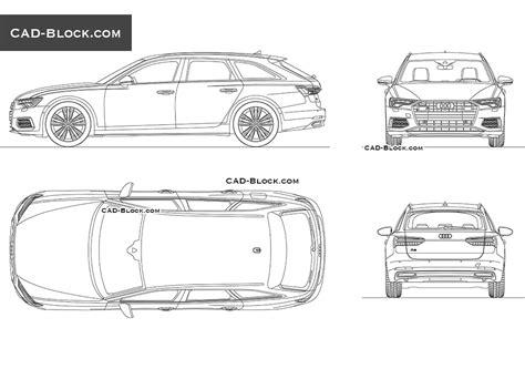 Audi A6 Avant 2018 Cad Model Download Autocad Block