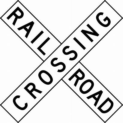 Sign Crossing Railroad Road Jamaica Svg Signs