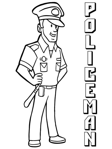 Coloring Free by Officer Coloring Pages Free Printable