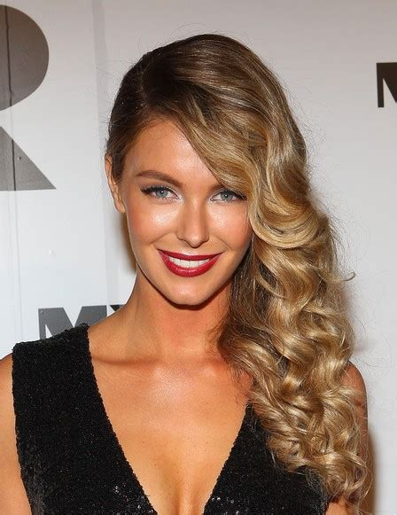 hair curled to the side styles most popular prom hairstyles for hair gallery of