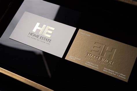 creative luxury real estate agent business card  gold