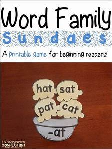 Monthly Study Planner Word Family Sundaes A Printable Game For Beginning