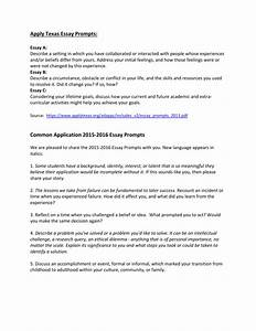 College Application Essay Examples