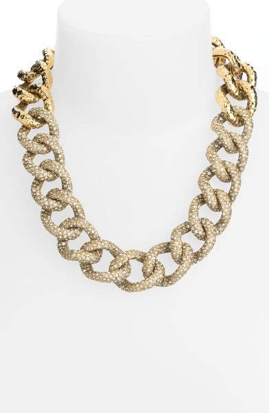 st john collection crystal encrusted chain necklace