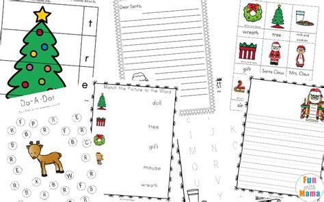 free printable worksheets with 256 | Christmas Preschool Printable Pack Literacy