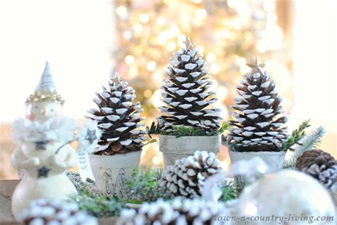 christmas trees with pine cones pine cone christmas trees town country living
