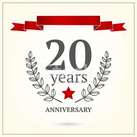 Twenty Years Anniversary Sign Stock Vector FreeImages com