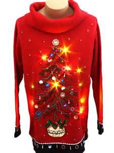 light up sweater b p design unisex