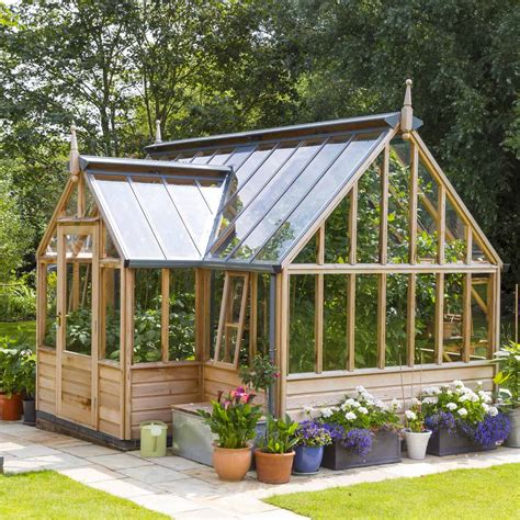 serre de jardin en bois portico gabriel ash 11 panneaux serre jardin