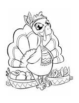 Coloring Turkey Thanksgiving Baskets Pretty Books Colorare Happy Desserts Every Crafts sketch template