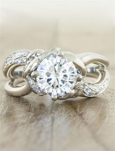 mazie wide band split shank  diamond ring ken