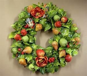 Eva Gordon Design Studio Ceramics - Wreath with assorted ...