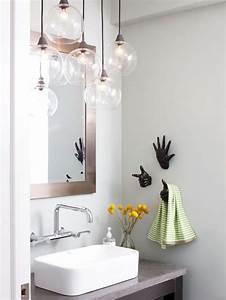 choisissez la suspension en verre pour faire impression et With salle de bain design avec décoration lampe à poser