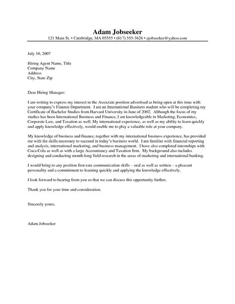 cover letter  internship project scope template