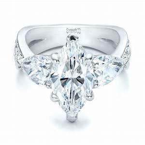 custom marquise diamond engagement ring 101227 With custom diamond wedding rings