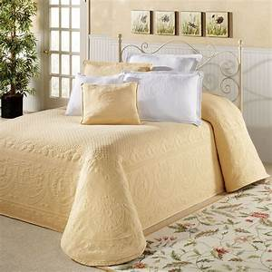 White Chenille Bedspreads King Size - Bedding Sets