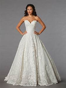 sweetheart lace ball gown wedding dress with floor With ball gown wedding dress