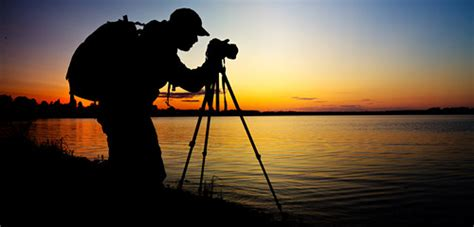 photographer tripod silhouette selecting and using a tripod