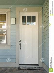 Closed White Door Of A Home Stock Images - Image: 34794624