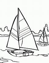 Coloring Water Sailboat Sailing Printable Adult Walks Jesus Coloringhome sketch template