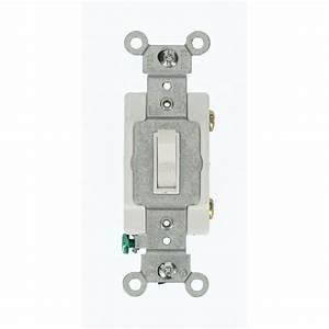 Leviton 20 Amp Commercial Grade Single-pole Toggle Switch  White-54521-2w