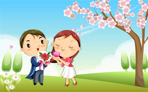 55+ Wallpaper Kartun Cinta Romantis Terbaru Bangiz