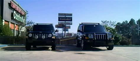 jeep commander vs patriot 2 quot lift and new tires comparision size next to commander