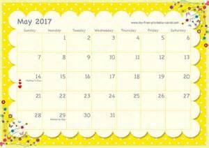 May 2017 Calendar Printable Free