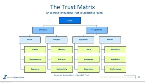 trust matrix   speed  trust  stephen