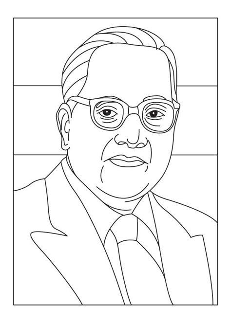 ambedkar jyanti coloring page   ambedkar