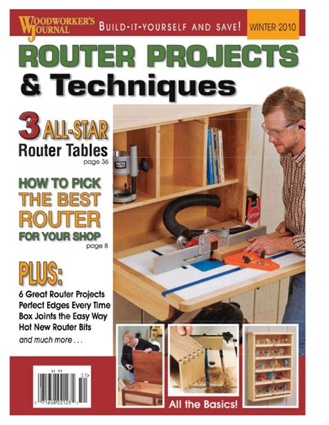 woodworker router projects  techniques