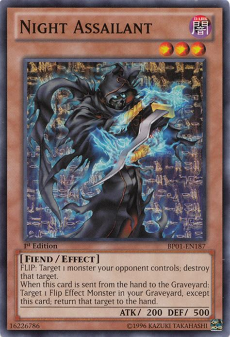 assailant night yugioh monsters yu gi oh card deck any cards effect fiend wikia game tour guide defense monster type