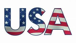 usa letters filled with waving american flag loopable With design letters usa