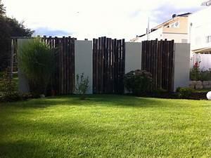 Gartengestaltung Doppelhaushälfte Bilder : sichtschutzelemente r wagner design ~ Whattoseeinmadrid.com Haus und Dekorationen