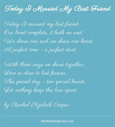 friend  married poem wedding ideas