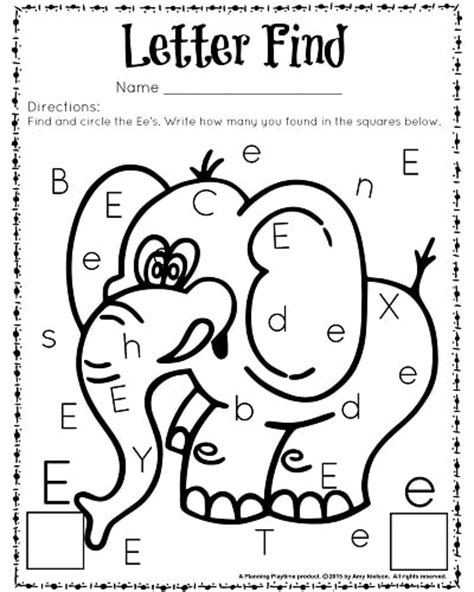 letter e worksheets preschool letter find worksheets with a freebie planning playtime 307
