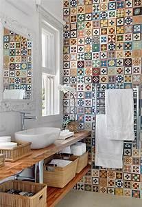 carrelage salle de bain colore kirafes With carrelage salle de bain colore