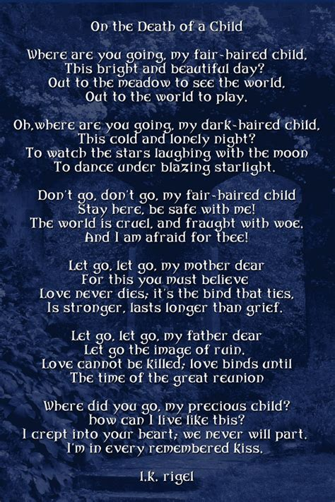 Quotes Poems Death Child