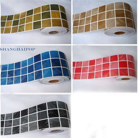 glass border tiles for kitchen self adhesive border sticker wallpaper mosaic tile vinyl 6805