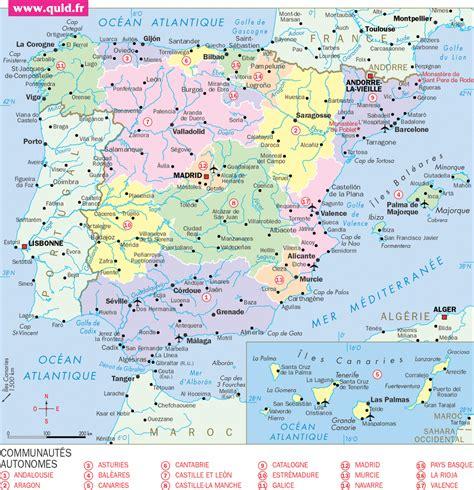 Carte Portugal Espagne by Infos Sur Carte Portugal Espagne Arts Et Voyages
