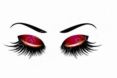 Clipart Eyelash Lash Gold Lashes Clip Instant