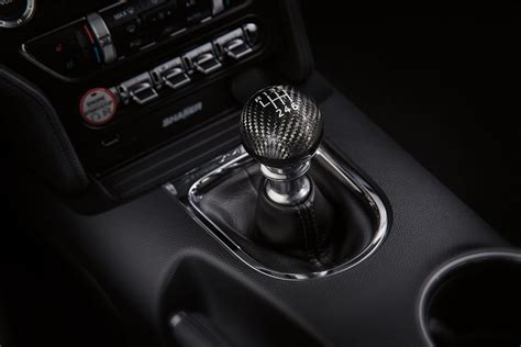 genuine ford mustang carbon fiber  speed shift