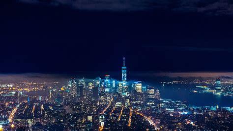 nx city night skyline dark nature wallpaper
