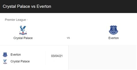 Crystal Palace vs Everton Live Preview, Prediction, Stat ...