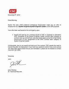 GPS Rescind offer letter