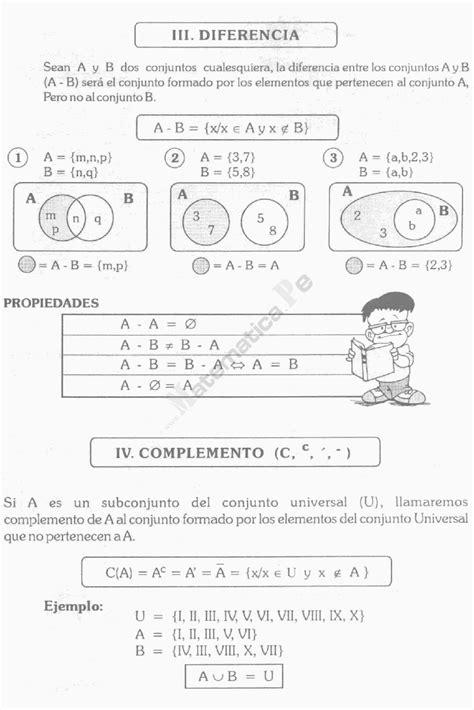 TEORÍA DE CONJUNTOS EJEMPLOS Y EJERCICIOS EN MATEMÁTICAS